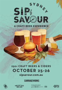 Event poster for Sip and Savour beer festival 2014