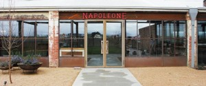 The front doorway to the Napoleone Brewery