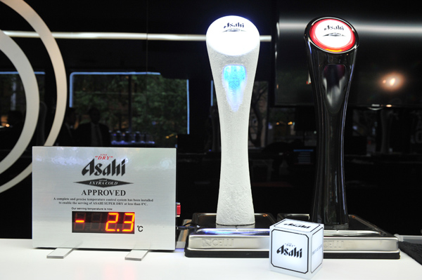 APPROVED: A complete and precise temperature control system has been installed to enable us to remove the few remaining vestiges of flavour in ASAHI SUPER DRY by serving it at less than 0 degrees.