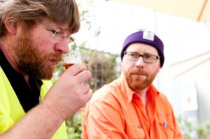 Richard Emerson from Emerson's Brewing and Little Creature Head Brewer Russell Gosling.