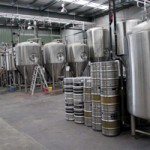Lots of new, shiny, stainless things at the brewery.