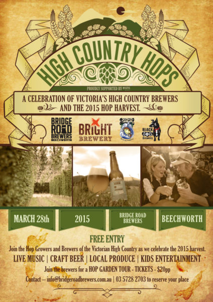 High Country Hops Festival event poster
