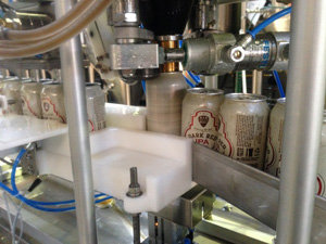 Six String Brewing's canning line in action.
