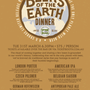 Beers of the Earth dinner