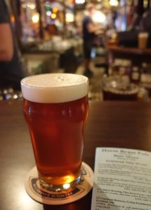 A good looking pint of ale: Horse Brass Pub