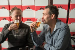 L-R: O'Brien Beer's John O'Brien and Andrew Lavery