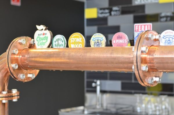 The tap lineup at The Hop Factory