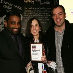 Tme Out CEO Mike Rodrigues (L) with Pub Of The Year winners, The Last Jar