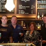 Denita Wawn with Tasmanian brewers at today's launch