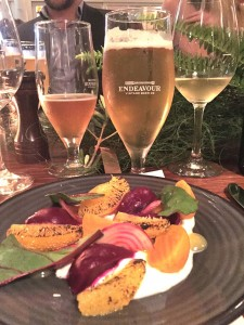 Endeavour beer dinner at Chiswick