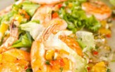 Prawn and mango salsa photo