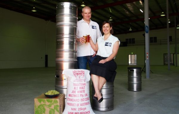 L-R: BentSpoke Owners Richard Watkins and Tracy Margrain at the Mitchell facility