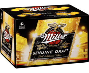 Miller Genuine Draft and Miller Chill are distributed by CUB in Australia