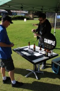Sample tee up some beers