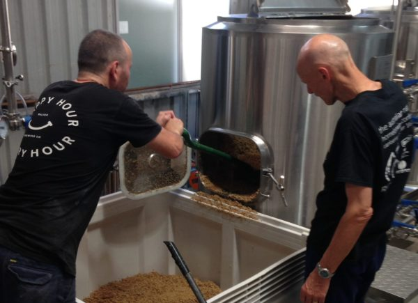 The collaboration brew underway at Balter Brewing