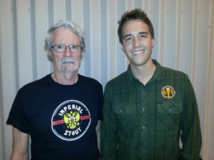 L-R: Competition co-ordinator Mike Leupold with Steve Parr, assistant director American Homebrewers Association