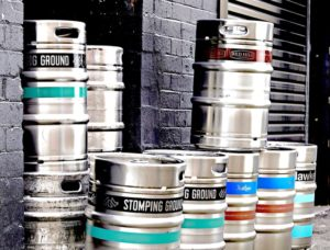 Customised silkscreen printed kegs from Bintani