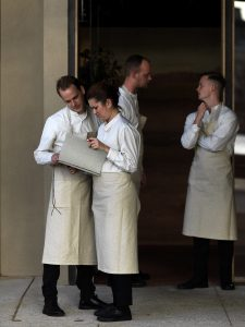 Waitstaff at the Sydney pop-up of Noma, which champions beer and wine