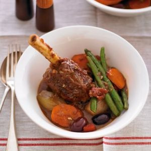 Paul Mercurio's Lamb Shanks in Guinness