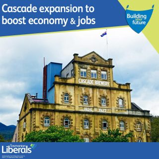 A $1 million Tasmanian Government grant will help fund the upgrade of Cascade Brewery