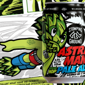 Stomping Ground's 'Astra Man' fresh hop pale ale blasts off