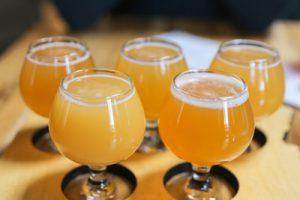Photo of selection of Hazy IPAs