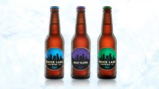 Brick Lane Brewing offical #Billy300 beer (middle)