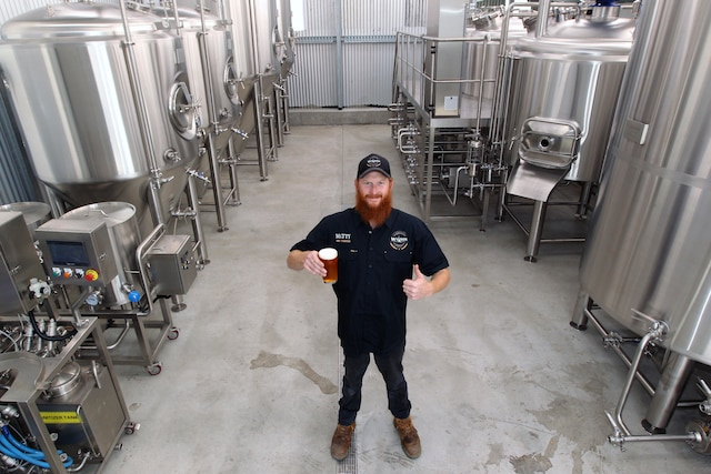 Matt Wilson with the new system from Spark Breweries & Distilleries