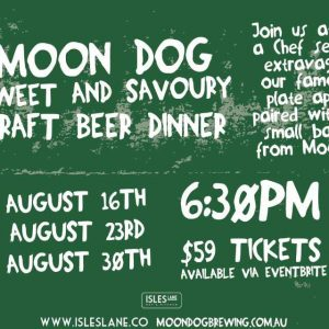 Moon Dog sweet and savoury dinner
