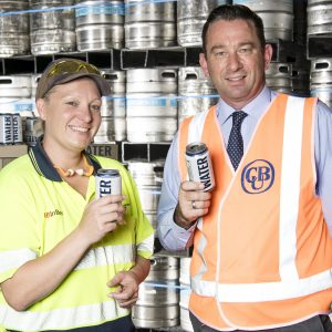 CUB cans water for disaster relief