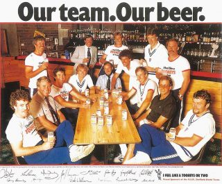 Tooheys Imagery A poster featuring the NSW Sheffield Shield team circa 1976
