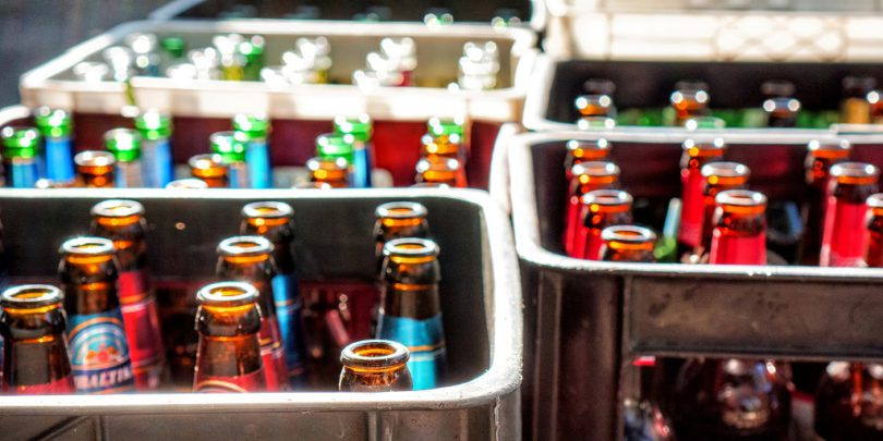 bottles recycling beer sustainability