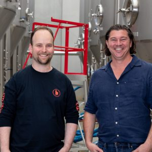 Paul Bowker and head brewer Jon Seltin from Brick Lane