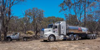The Water on Wheels truck rolls into the Southern Downs. Picture Glenda Riley 1