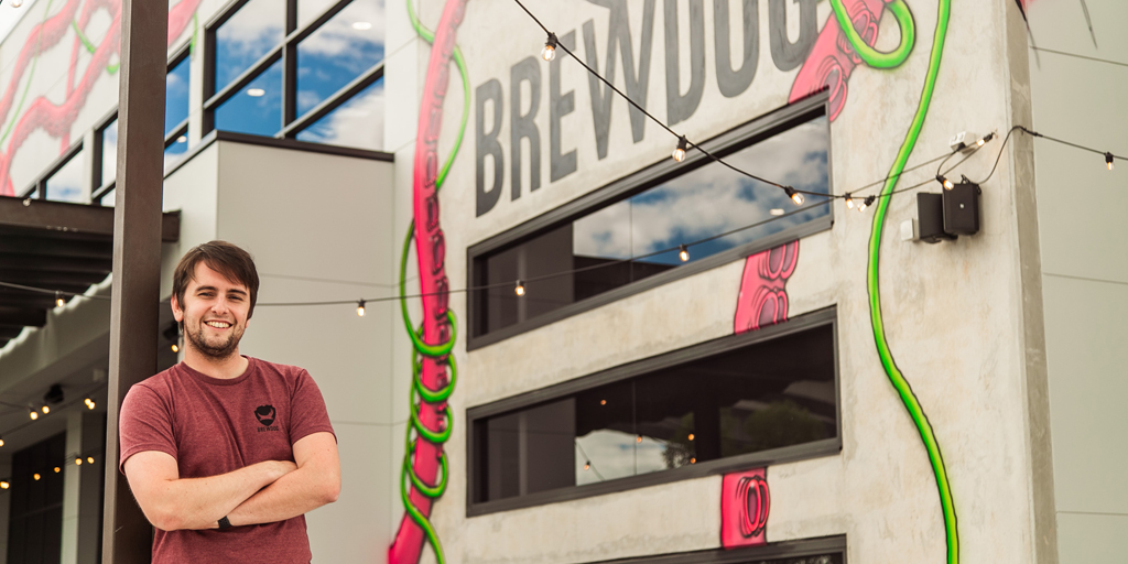 Calvin McDonald top dog at BrewDog Australiaat DogTap Brisbane