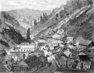 An early sketch of Walhalla, Victoria