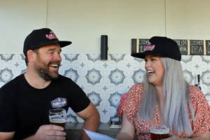 Sam and Claire Houstin from Flamin Galah Brewery