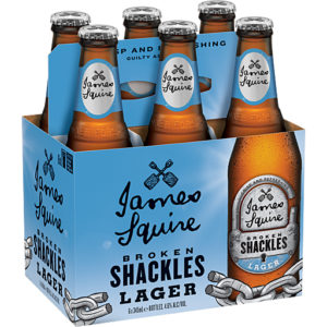 Broken Shackles lager six pack