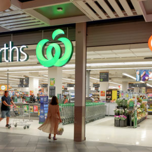 Woolworths and BWS store fronts