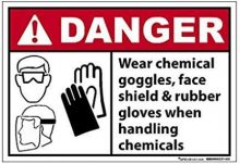 Handling chemicals warning sign
