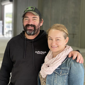 Matt & Sharynne Wilson in their new brewery space