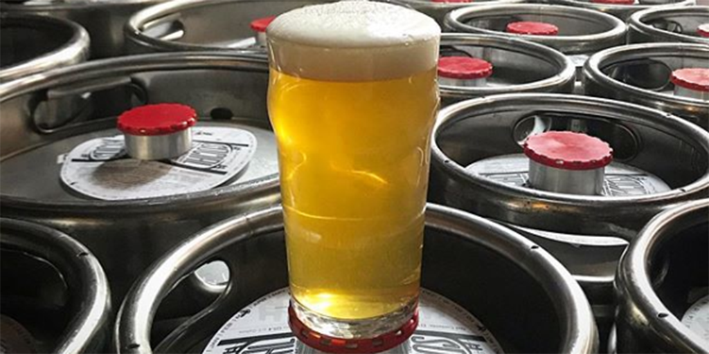 A beer on Social Kitchen kegs