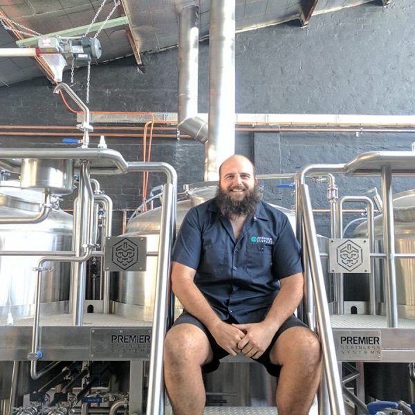 Nowehereman brewer Paul Wyman and the firm's newly-installed Premier brewing system at West Leederville