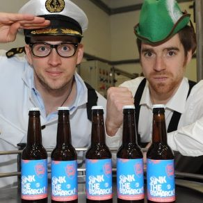 James Watt and Martin Dickie of Brewdog, which has announced it is coming to Brisbane