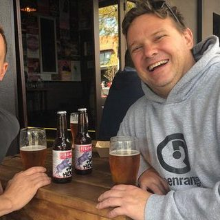 Will Irving and Brendan Varis celebrate the longevity of Hop Hog